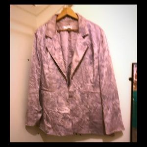 Coldwater Creek plus size silk jacket